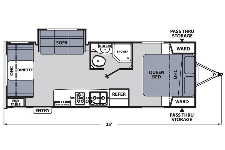 Apex Nano 213RDS floorplan